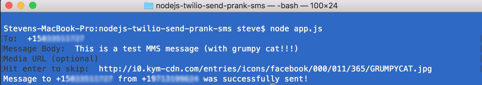 How To Send A Prank Text Message with Node js and Twilio API